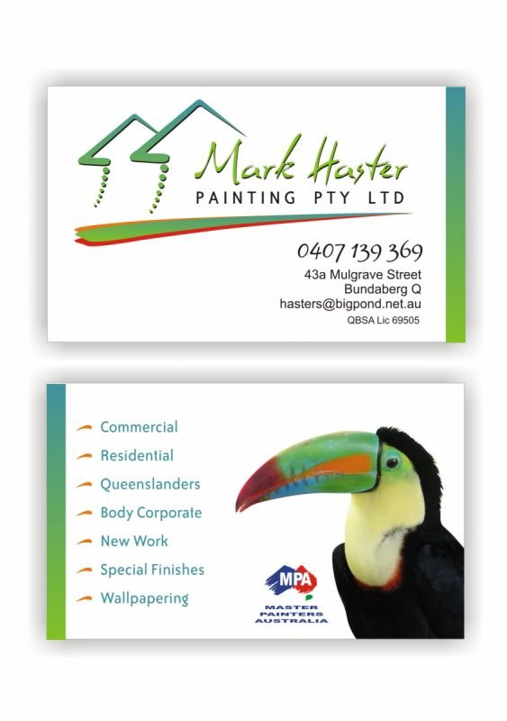 Logo and business card design - Mark Haster Painting