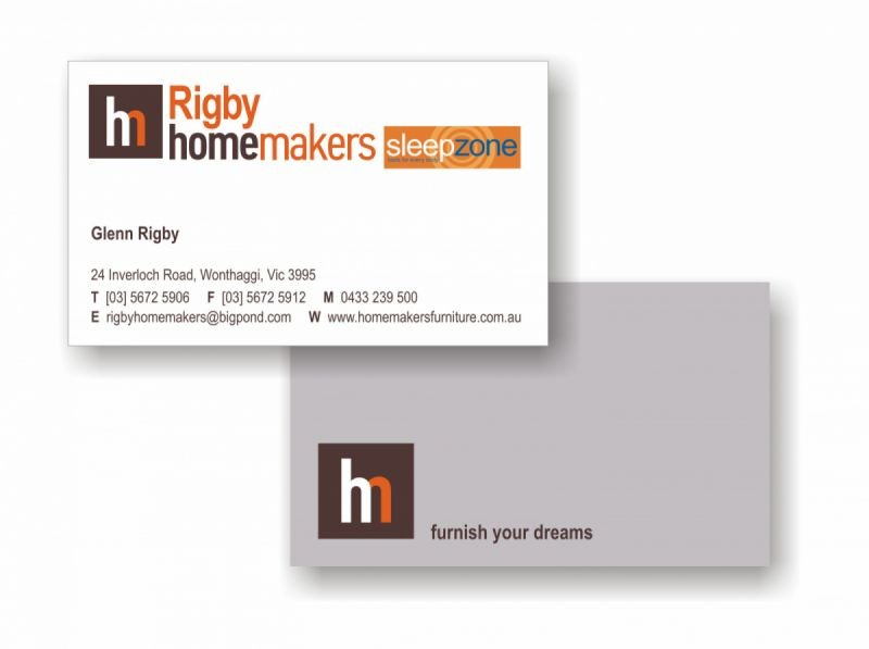 Business card - Rigby Homemakers