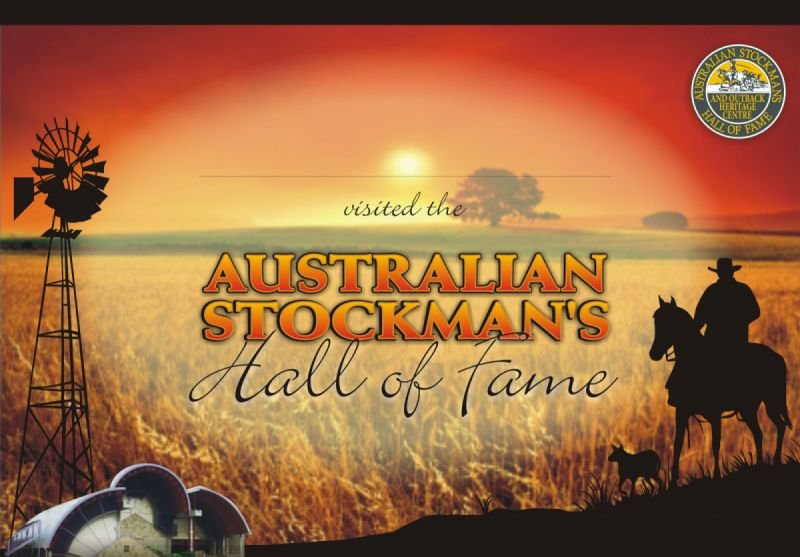 Certificate - Australian Stockman's Hall of Fame
