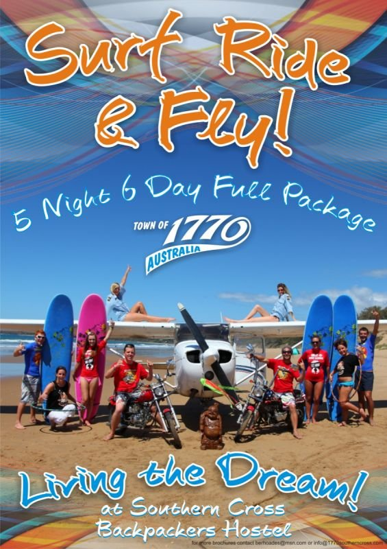 A4 Flyer (front) - Surf Ride Fly 1770