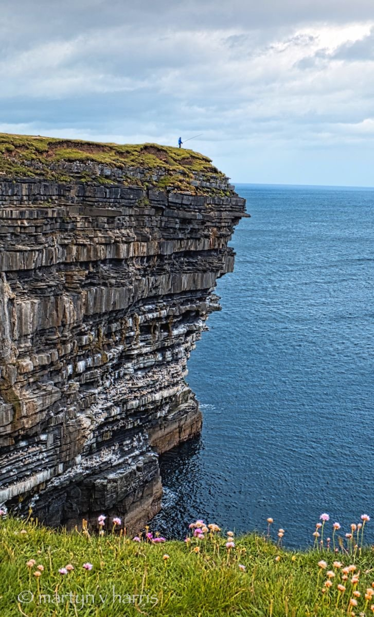 Extreme fishing at Downpatrick Head