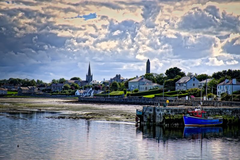 Killala at low tide