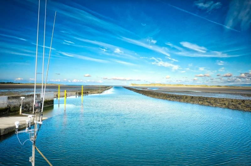 Killala harbour channel at low tide