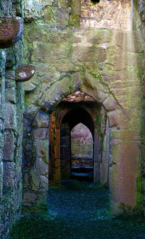 Passageways trodden for over 600 years at Ross Errilly Friary