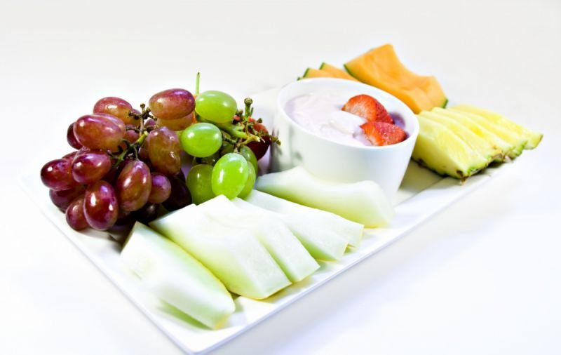 Tropical and seasonal fruit platters