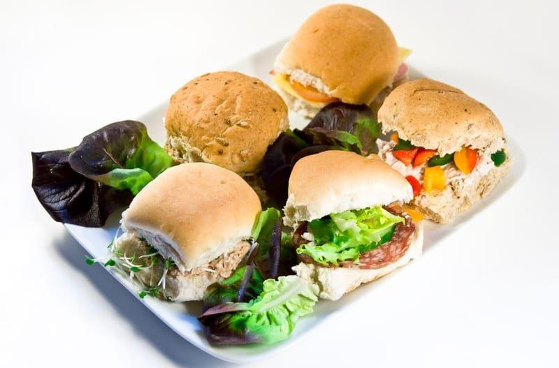 Mini rolls platter