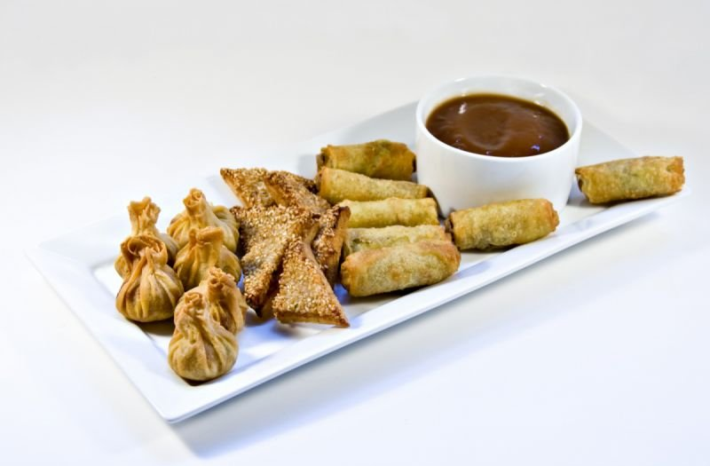 Oriental savoury platter