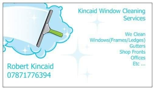 Window cleaning Business card - Lowestoft
