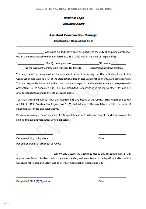 category appointment letters