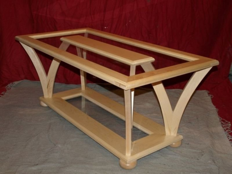 maple wish bone coffee table