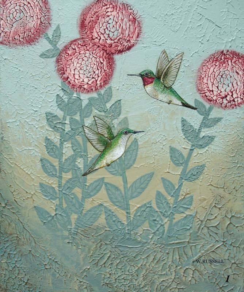 Textured Garden Series Hummingbirds