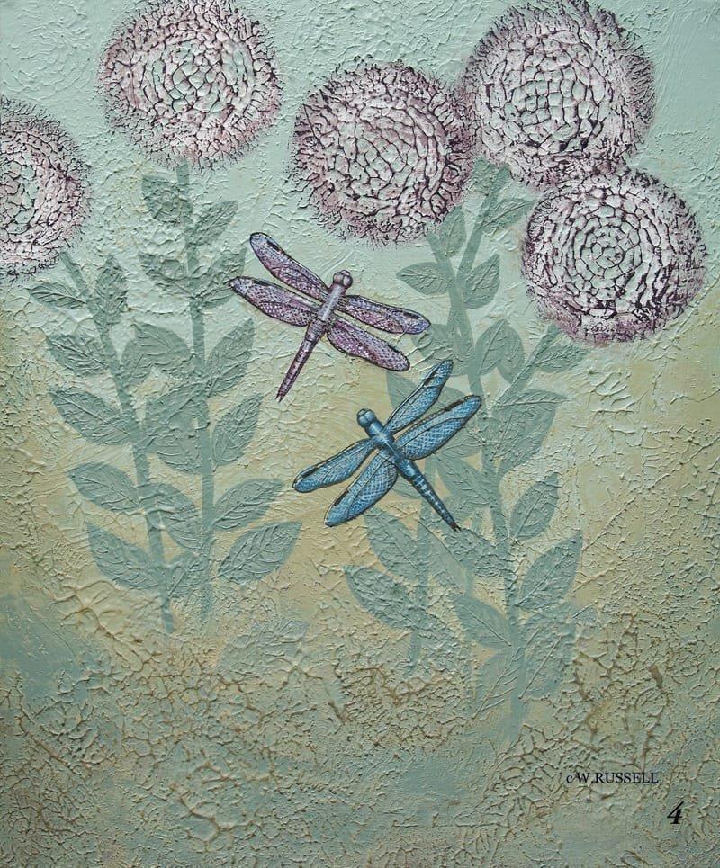 Textured Garden Series Dragonflies.