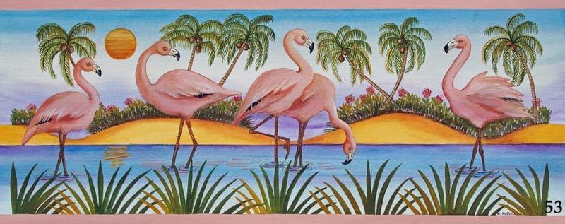 Flamingo Sunset Horizontal