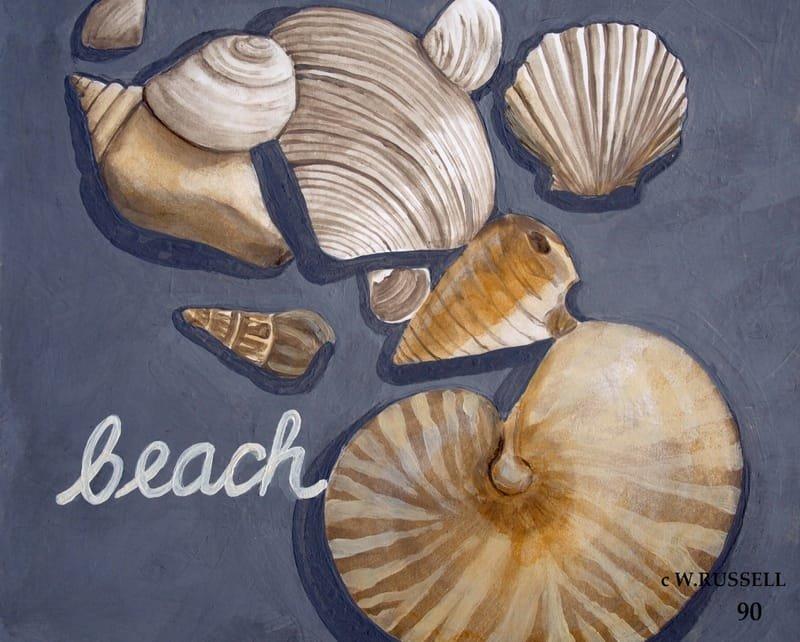 Seashells on Grey Series Beach