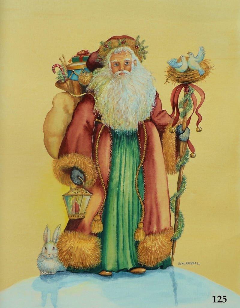 Woodland Santa with Doves