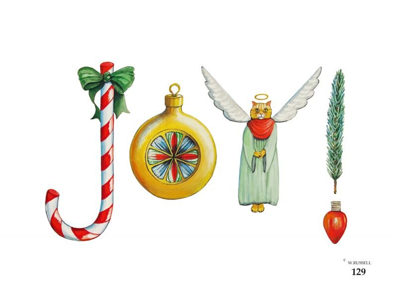 Holiday JOY Decorative Letters