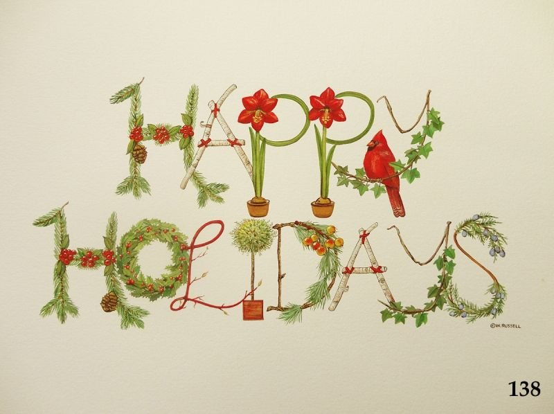 Happy Holidays Decorative Letters Sign