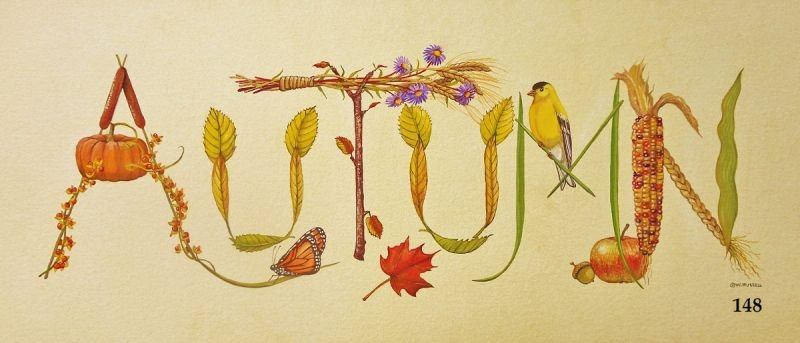 AUTUMN Sign With Decorative Letters