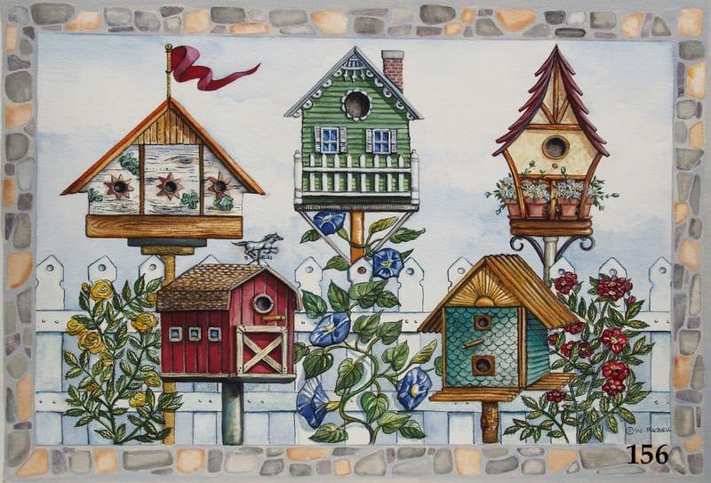 Cobblestone Birdhouses