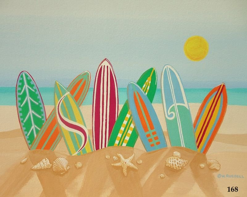 Surfboards in Sand