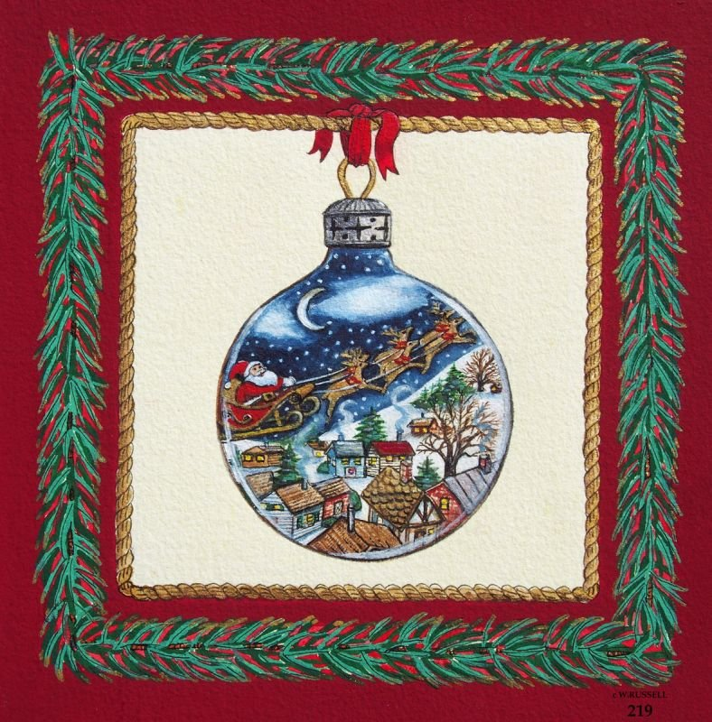 Holiday Ornament Santa's Ride