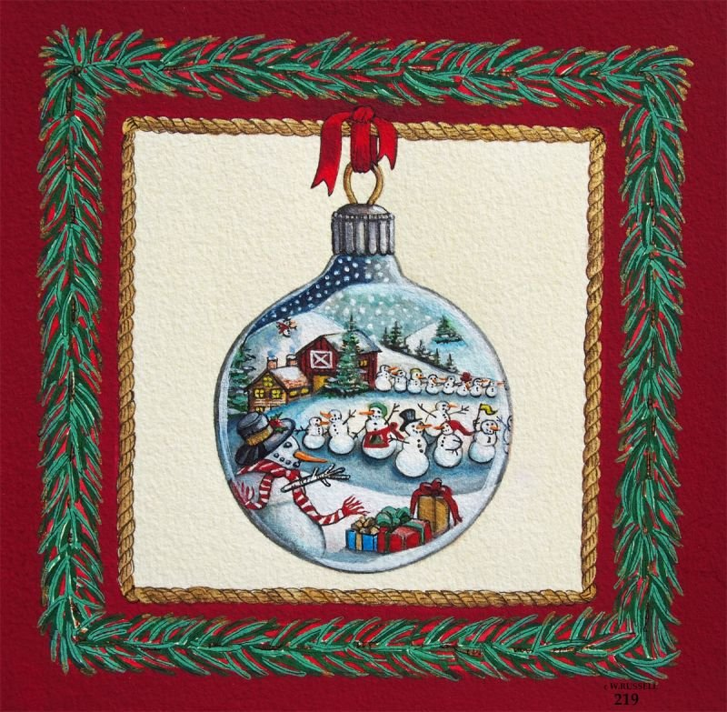 Holiday Ornament Snowman Parade