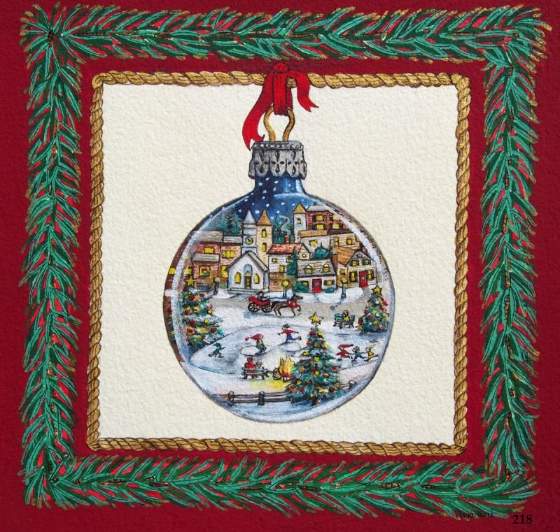 Holiday Ornament Village Square