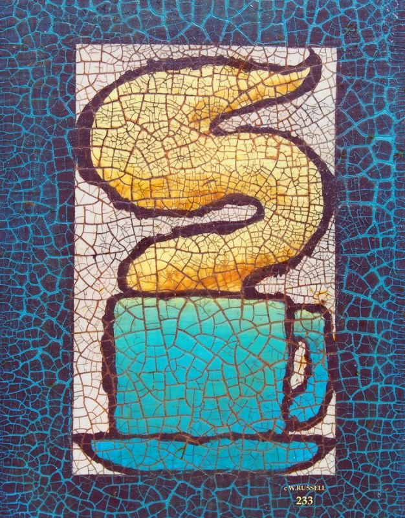 Crackled Blue Coffee Mug