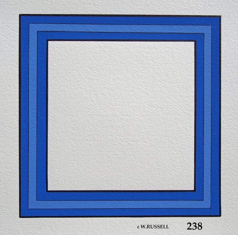 Snowflake on Blue Series Border