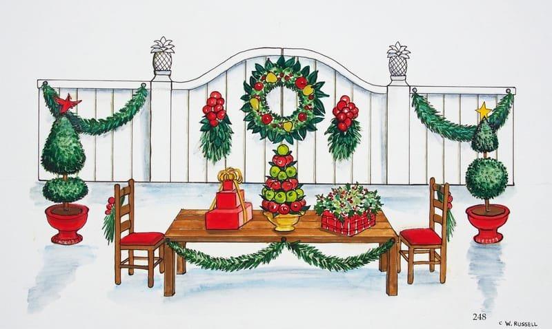 Country Christmas Holiday Table