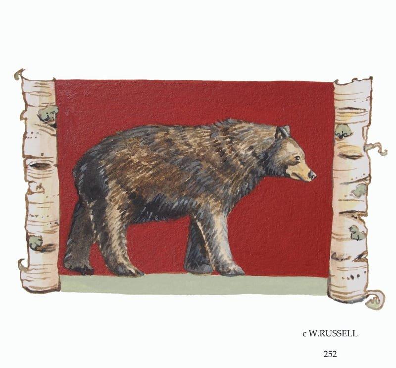 Birch Woodland Animal Series Bear