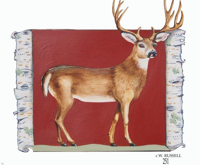Birch Woodland Animal Series Deer