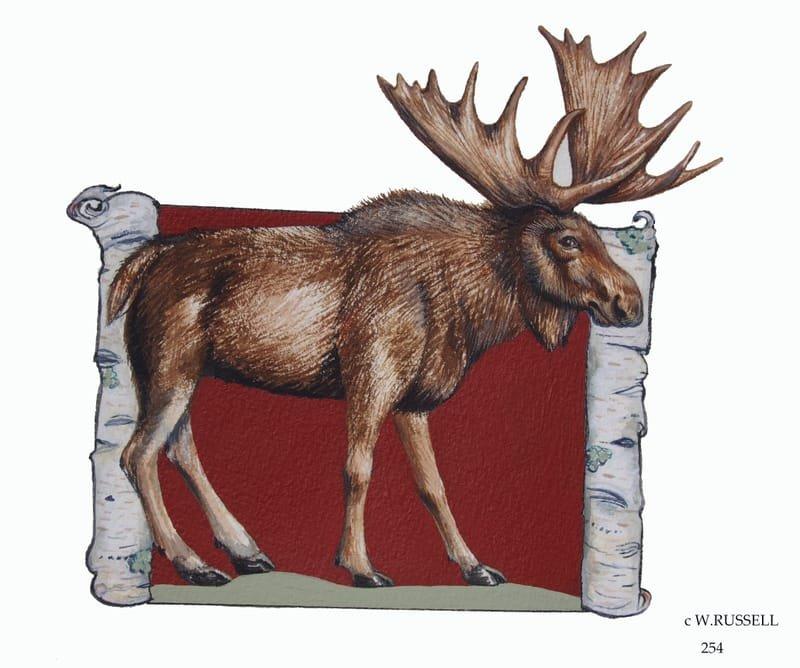 Birch Woodland Animal Series Moose