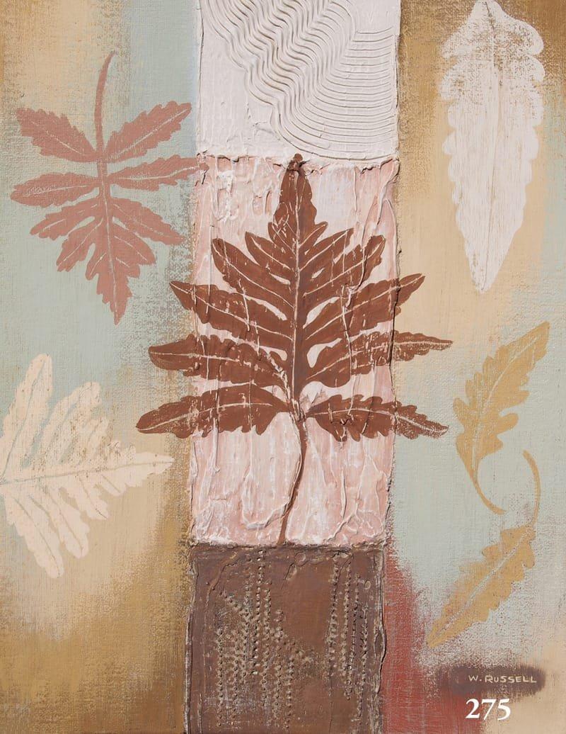 Textured Leaves Brown Tones 1