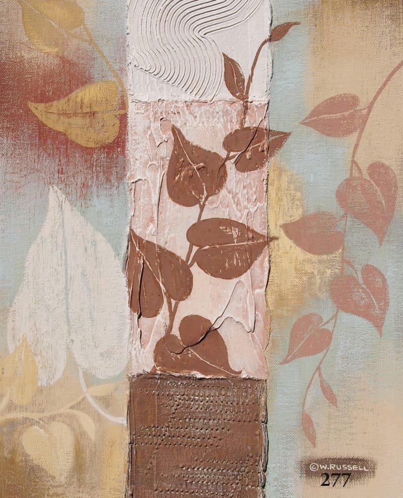 Textured Leaves Brown Tones 3