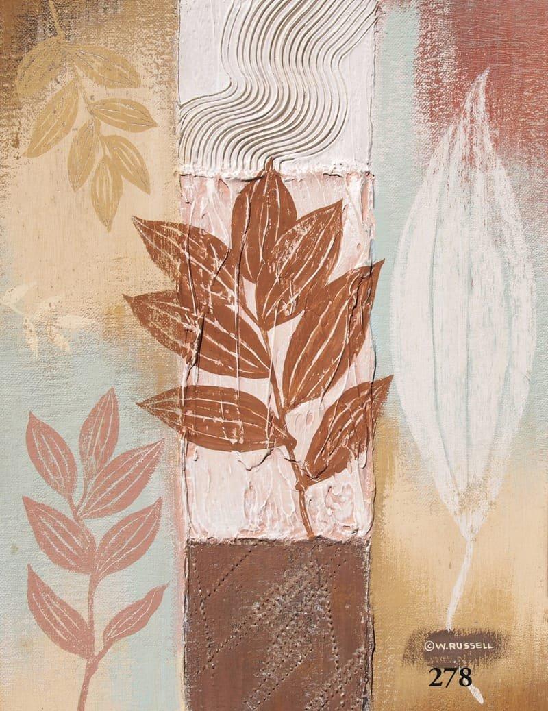 Textured Leaves brown Tones 4