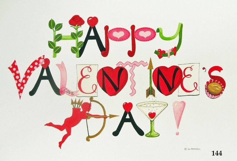 Happy Valentine's Day Decorative Letters