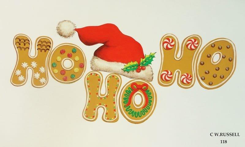 Holiday Santa Hat and Cookies