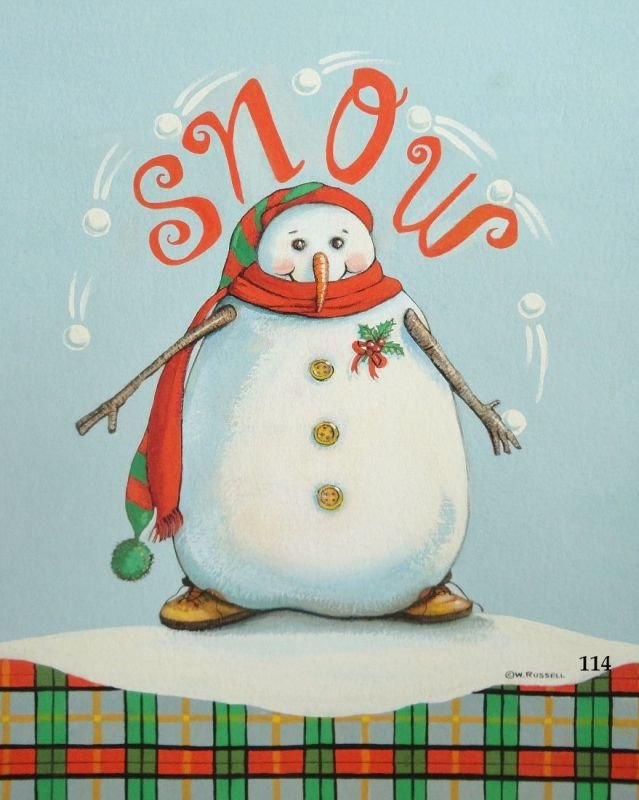 Snowman Juggler with Text