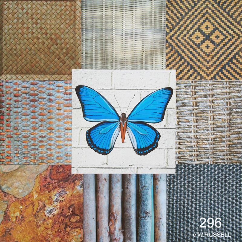 Blue Butterfly Collage I
