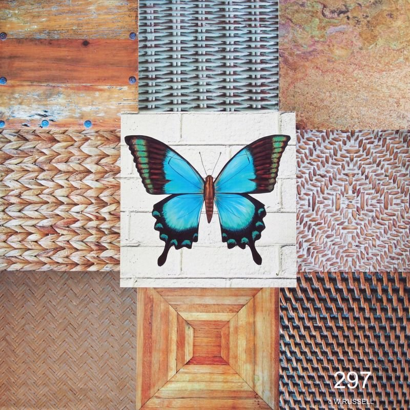 Blue Butterfly II Collage
