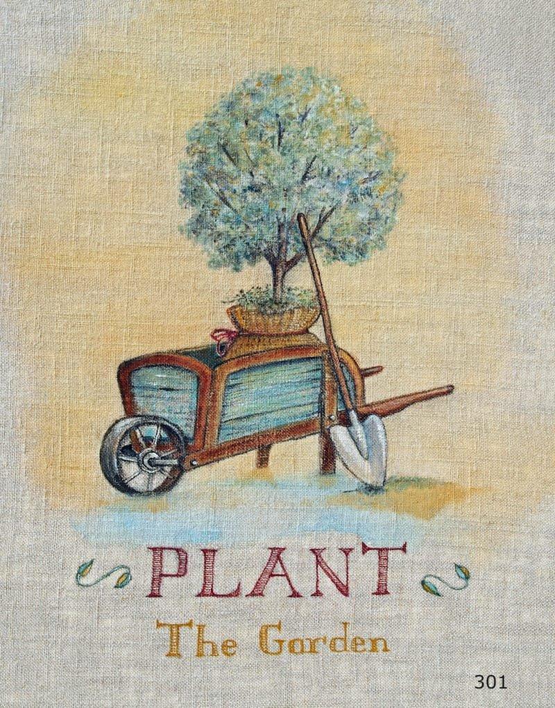 Gardening Series on Linen Plant the Garden