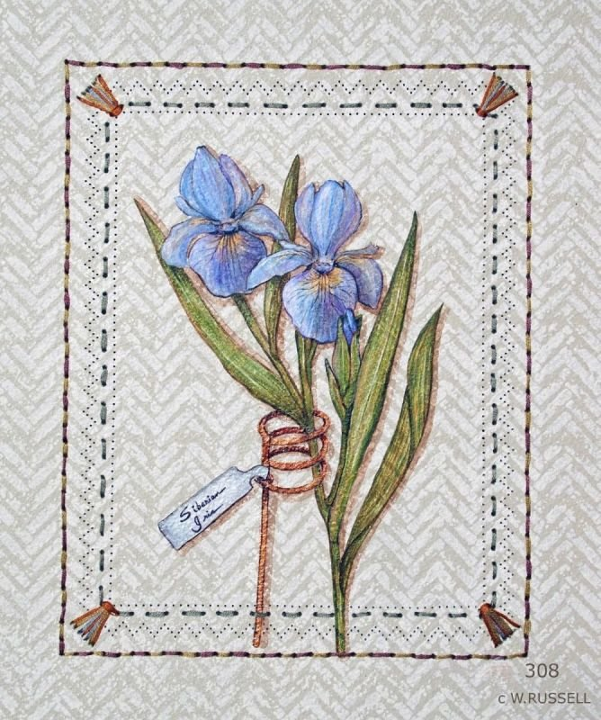 Flowers with Garden Tags Iris