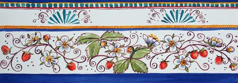 Italian Style Strawberries Mug or Border Design