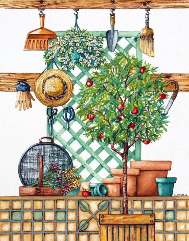 Garden Shed Series Apple Tree
