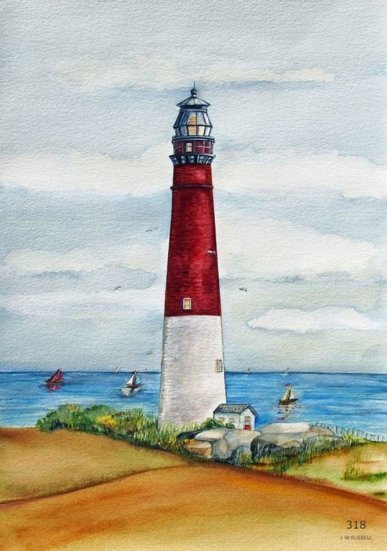 Lighthouse Red and White