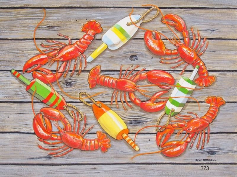 Lobsters Red Cooked with Buoys