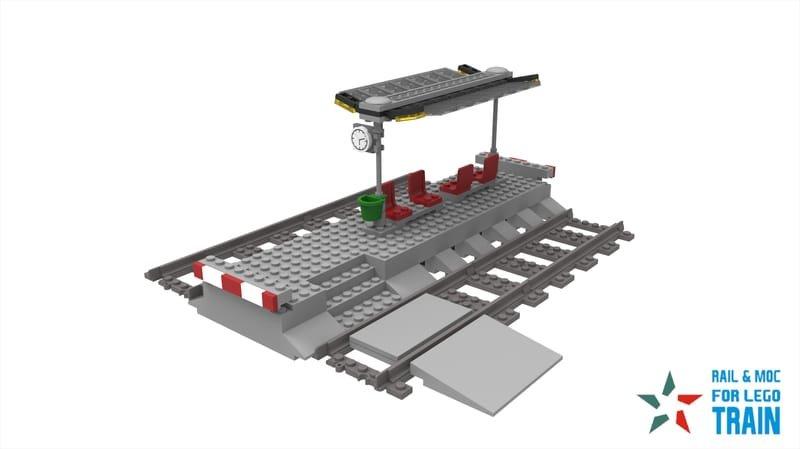 LITTLE TRAIN STATION - RAIL & MOC FOR LEGO TRAIN