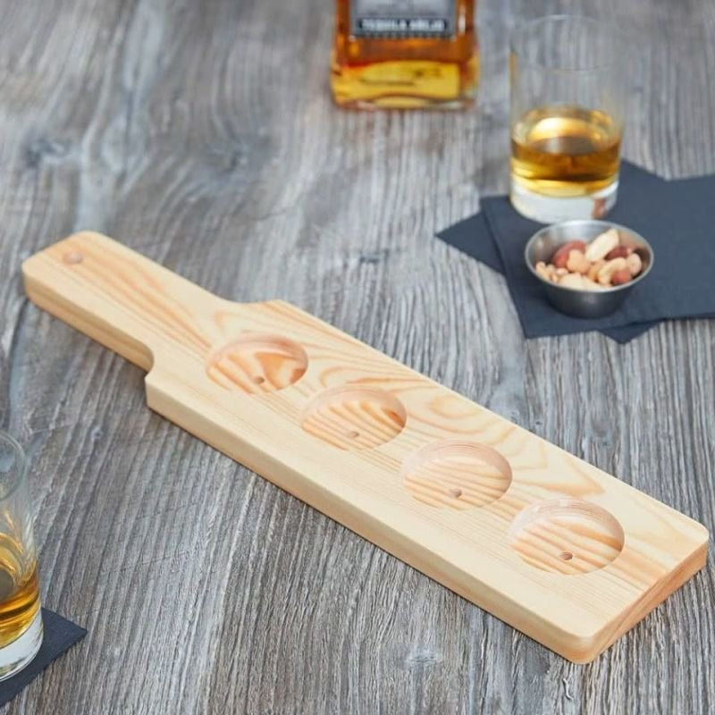 Whiskey Paddle with Rocks Glasses