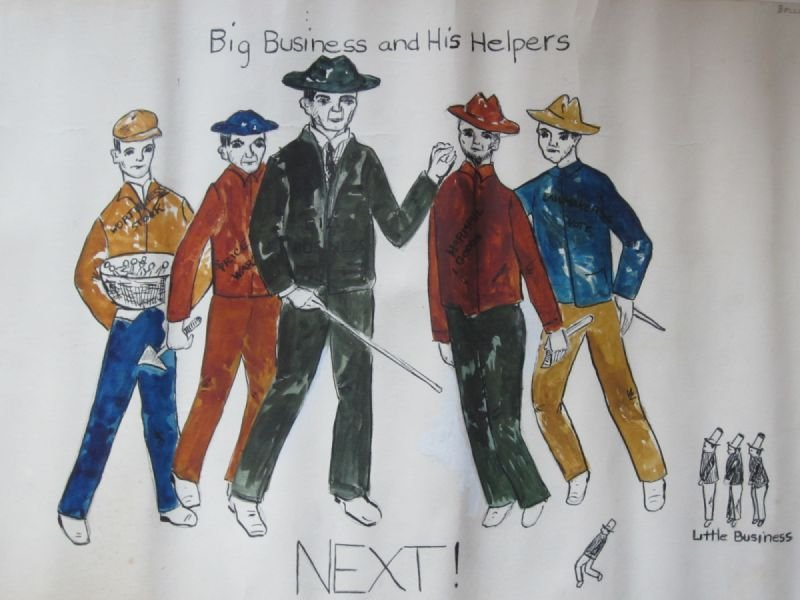 Illustration of Big Business, from 8th Grade Social Studies